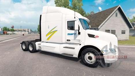 Swift skin for the truck Peterbilt for American Truck Simulator