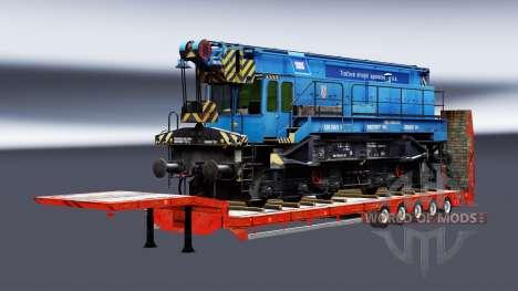 Semi-trailers with zeleznodoroznyj the line v1.3 for Euro Truck Simulator 2