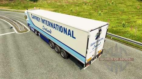 Caffrey International skin for Scania truck for Euro Truck Simulator 2