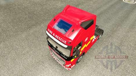 Skin Fire & Rescue at Volvo trucks for Euro Truck Simulator 2