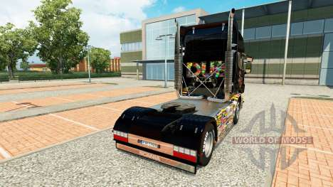 Skin Sticker Bomb Scania on truck for Euro Truck Simulator 2
