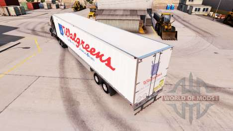 Skin WalGreens on the trailer for American Truck Simulator