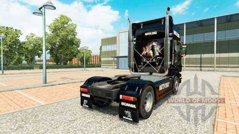 Watch Dogs skin for Scania truck for Euro Truck Simulator 2