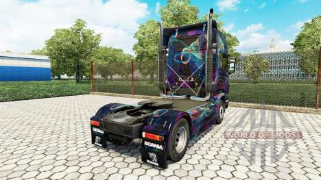 The Fractal Flame skin for Scania truck for Euro Truck Simulator 2