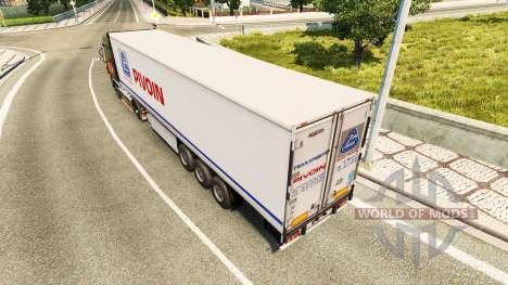 Skin Pivoin on the trailer for Euro Truck Simulator 2