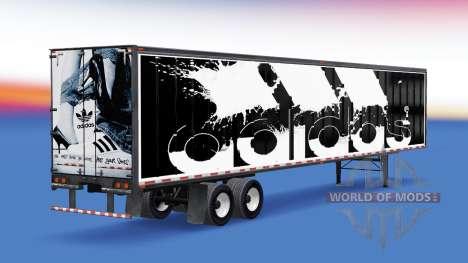 All-metal semi-Adidas for American Truck Simulator