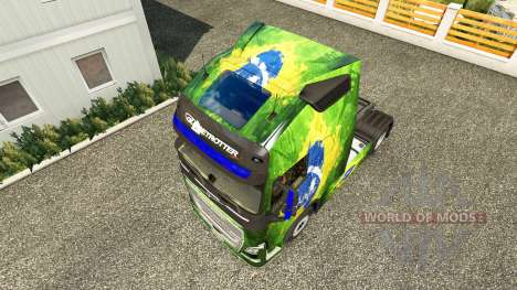 Skin Brasil at Volvo trucks for Euro Truck Simulator 2