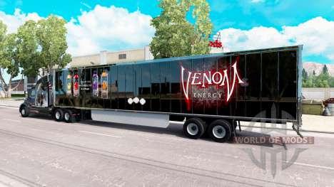 Skin Venom on the trailer for American Truck Simulator
