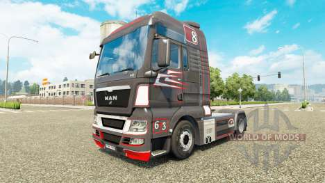 Grey Red skin for MAN truck for Euro Truck Simulator 2