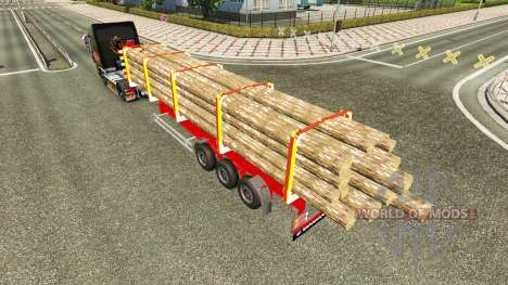 Semi-trailer truck for Euro Truck Simulator 2