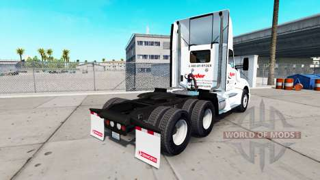 Skin on Ryder truck Kenworth for American Truck Simulator