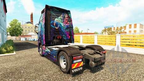 The Fractal Flame skin for Volvo truck for Euro Truck Simulator 2