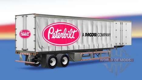 Curtain semi trailer Peterbilt for American Truck Simulator