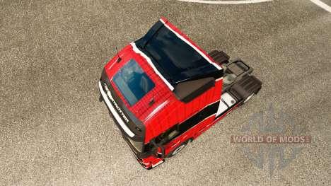 Skin Piel Rojo Negro at Volvo trucks for Euro Truck Simulator 2
