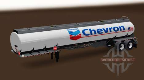 Skin Chevron fuel semi-trailer for American Truck Simulator