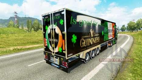 Guinness skin for Volvo truck for Euro Truck Simulator 2