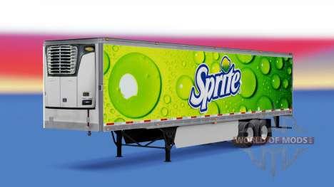 Skin Sprite on refrigerated semi-trailer for American Truck Simulator