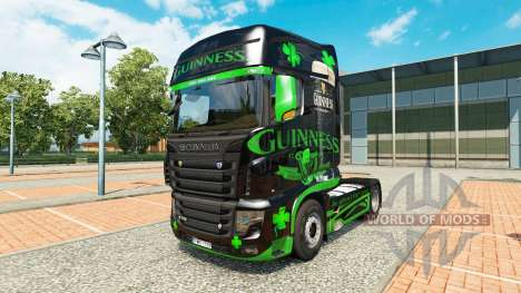 Guinness skin for the truck Scania R700 for Euro Truck Simulator 2