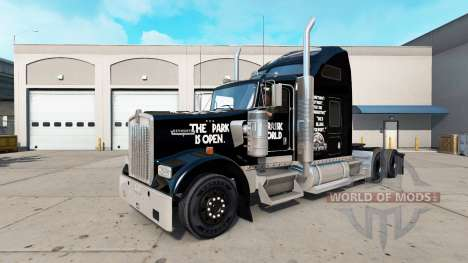 Skin Jurassic World truck Kenworth W900 for American Truck Simulator