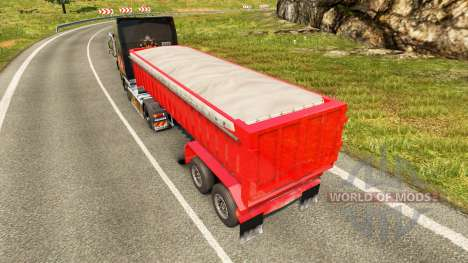 Semi-trailer dump truck for Euro Truck Simulator 2