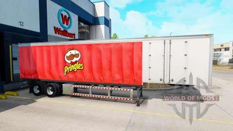 Curtain semi-trailer Pringles for American Truck Simulator