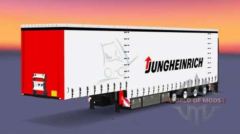Four-axle curtain semi-trailer Krone for Euro Truck Simulator 2