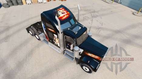 Skin USA truck Kenworth W900 for American Truck Simulator