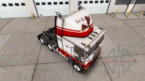 Skin Silver Eagle truck Freightliner FLB for American Truck Simulator