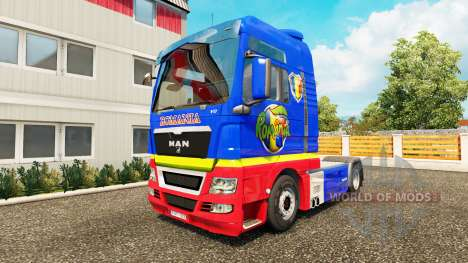 Romanian skin for MAN truck for Euro Truck Simulator 2