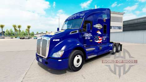 Skin Broncos on tractor Kenworth for American Truck Simulator