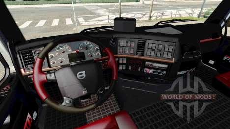 Black and red interior Volvo for Euro Truck Simulator 2