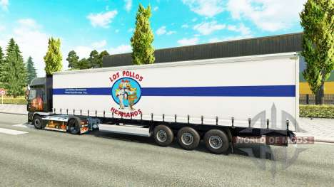 Skin Los Pollos Hermanos on the trailer for Euro Truck Simulator 2