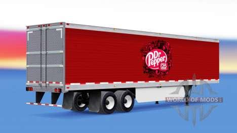 Skin Dr Pepper on the trailer for American Truck Simulator
