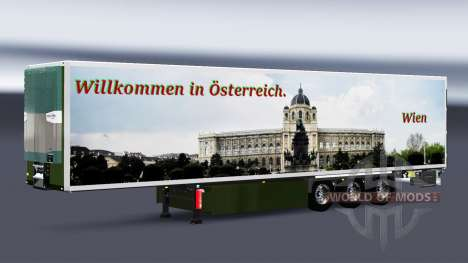 Skins on refrigerated semi-trailer for Euro Truck Simulator 2
