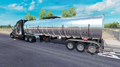 Chrome fuel semi-trailer for American Truck Simulator