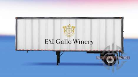 Skin E&J Gallo Winery on the trailer for American Truck Simulator
