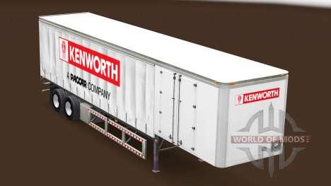 Curtain semi trailer Kenworth for American Truck Simulator