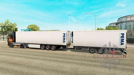 Semi-Trailers Krone Gigaliner [Pema] for Euro Truck Simulator 2