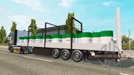 Semitrailer Schmitz Castrol for Euro Truck Simulator 2