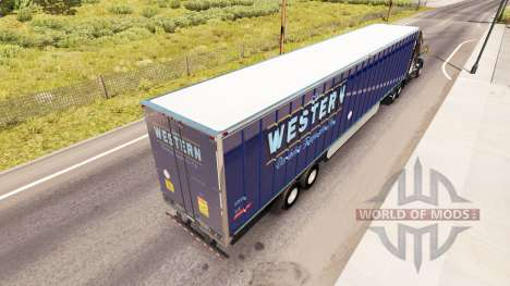Skin Western on the trailer for American Truck Simulator