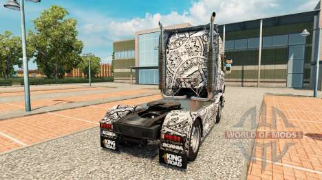 Batik Indonesia skin for Scania truck for Euro Truck Simulator 2