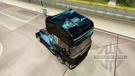 Skin, Turquoise Smoke for Scania truck for Euro Truck Simulator 2