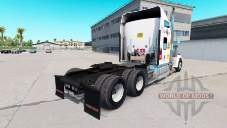 Skin MS on the truck Kenworth W900 for American Truck Simulator