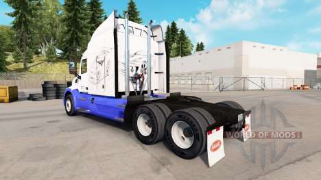 Skin Sketches Cars on the tractor Peterbilt for American Truck Simulator