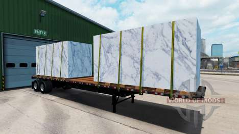 The semitrailer-platform with different loads. for American Truck Simulator