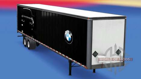 All-metal semitrailer BMW for American Truck Simulator