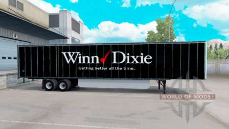 Skin Winn Dixie on the trailer for American Truck Simulator