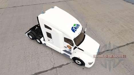 Fanta skin for Kenworth tractor for American Truck Simulator