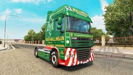 Ken Mallinson skin for DAF truck for Euro Truck Simulator 2