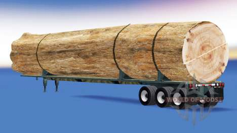 Semi-trailer with a load of tree trunk for American Truck Simulator
